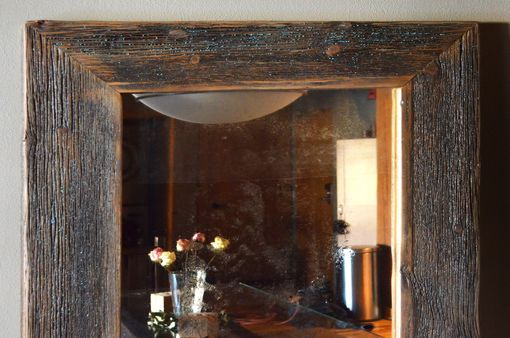 Custom Made Rustic Wood Mirror Frame