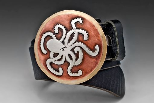 Custom Made Knotty Octopus Belt, Sterling Silver, Copper, And Brass