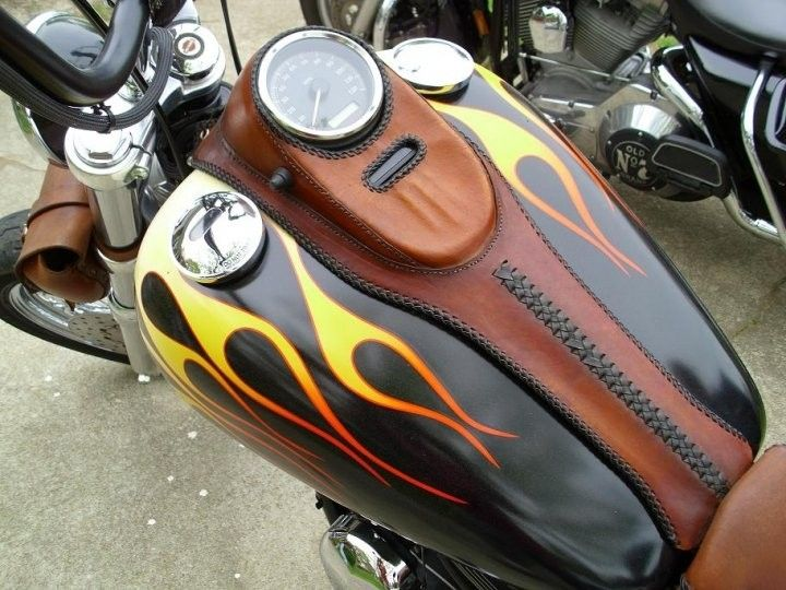 Custom Made Tank Panel By Alamo Custom Leather