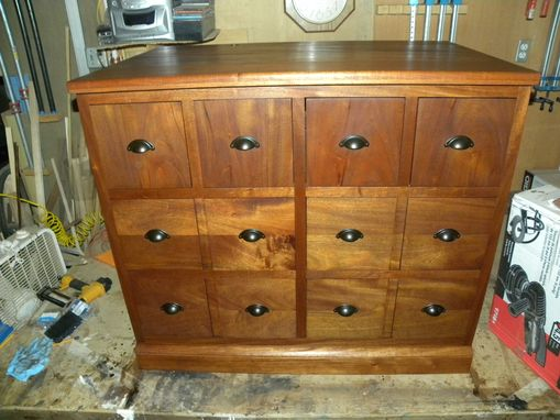 Custom Made African Mahogany Chest