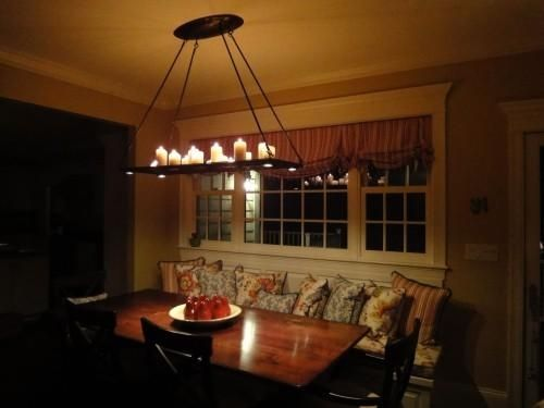 Custom Made Forged Iron Candle/Halogen Chandelier