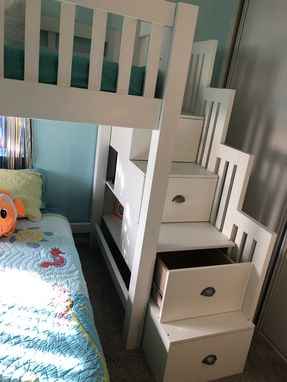 Custom Made Bunkbed With Drawer Stairs For Storage