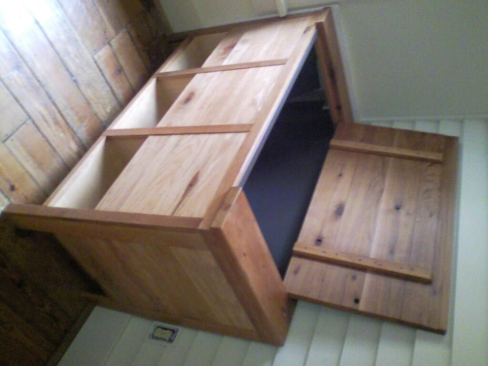 Handmade Firewood Storage Box By Russell Keith