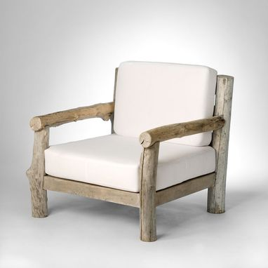 Custom Made Driftwood Club Chair