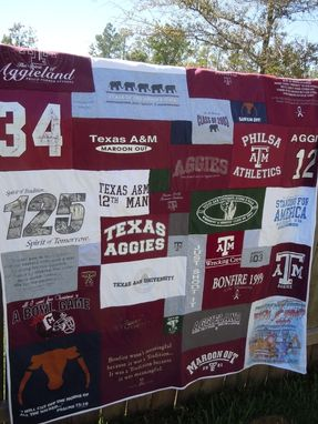 Custom Made College Memory Quilt