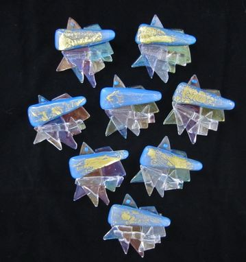 Custom Made Fused Glass  Brooches For Conference