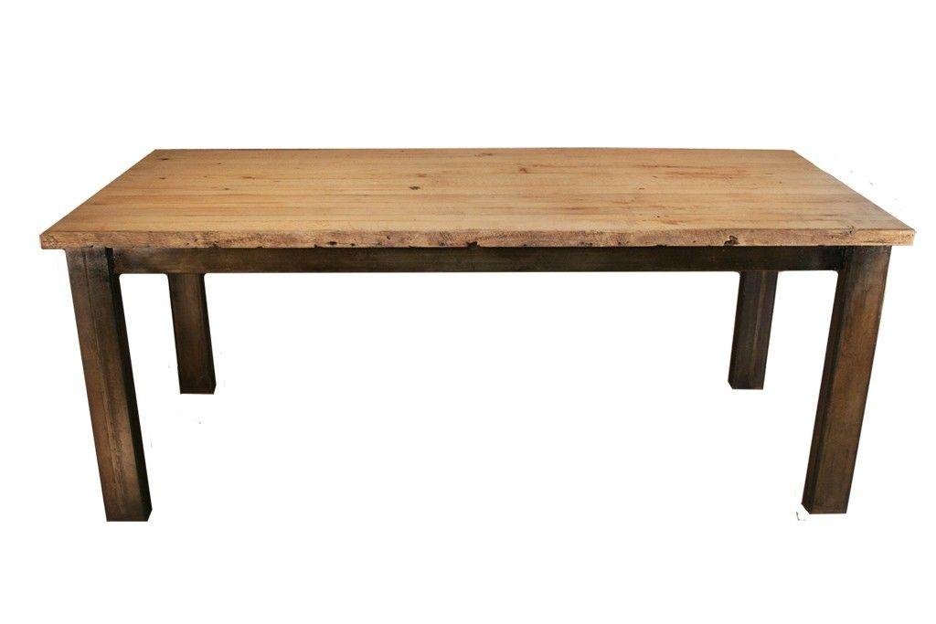 Custom Made Reclaimed Oak Dining Table