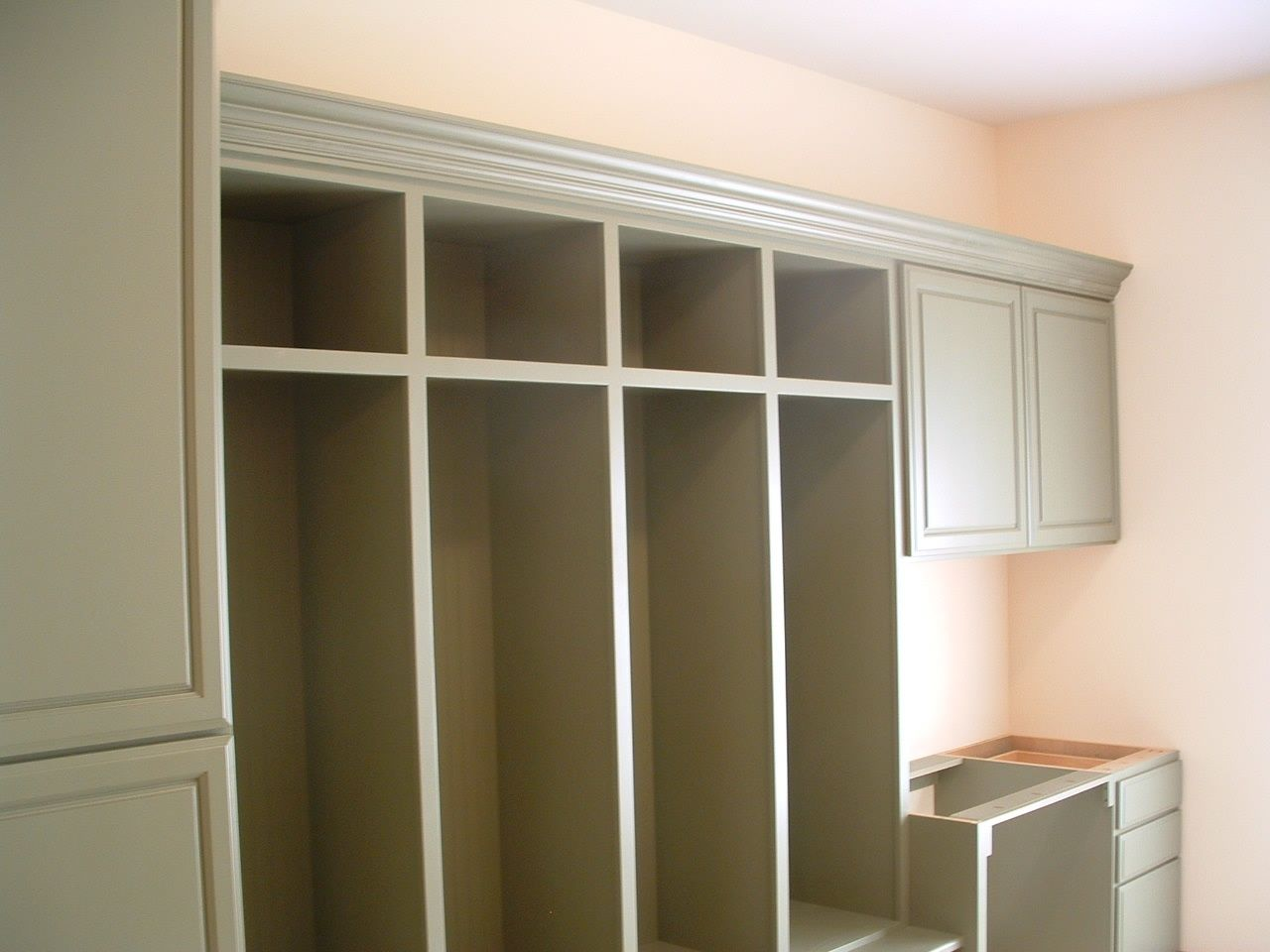 custom cubby laundry room cabinet by peabody enterprises inc custom made cubby laundry room cabinet