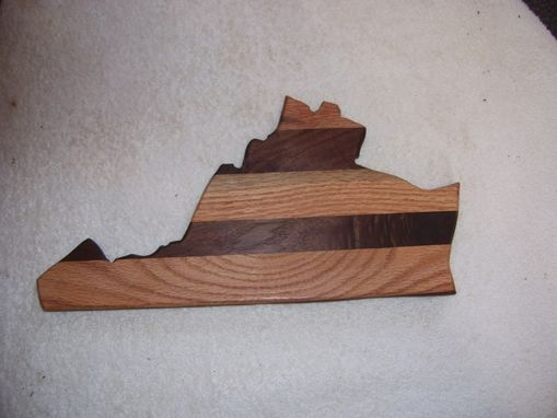 Custom Made Virginia State Cutting Board Made From Oak & Walnut