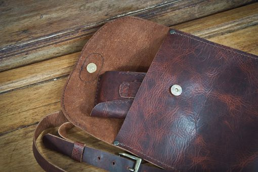 Custom Made Small Leather Travel Bag Cross-Body Design