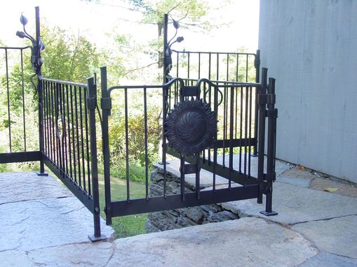 Custom Made Stone Patio Railing