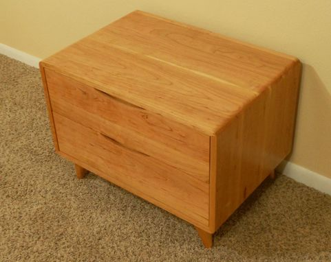 Custom Made 2 Drawer Danish Modern Nightstand (Item # 2d638)