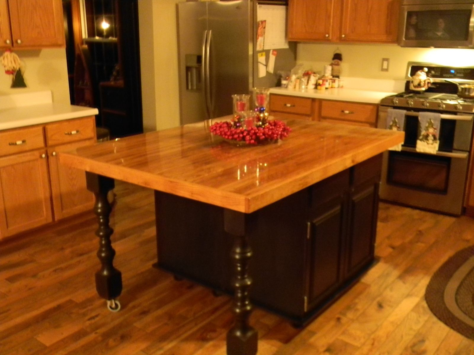 Custom Wood Kitchen Islands Gorgeous Hand Crafted Rustic Barn Wood Kitchen Islandblack Swamp Inspiration