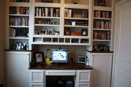 Custom Made Built In Desk Amp Bookcases By Custom Cabinets