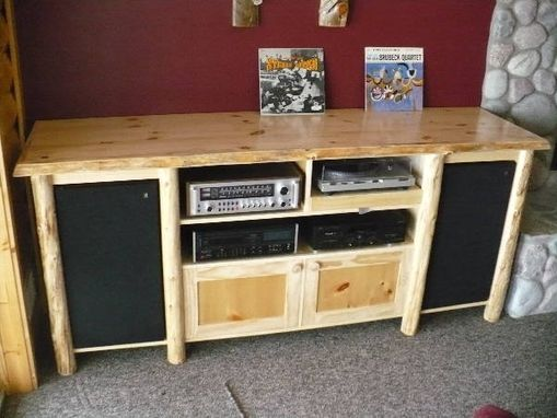 Custom Made Rustic Media Cabinet