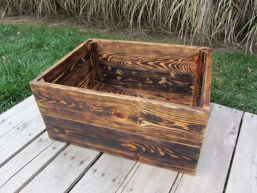 Custom Made Medium Wood Crate Stackable Made From Reclaimed Wood Pallets