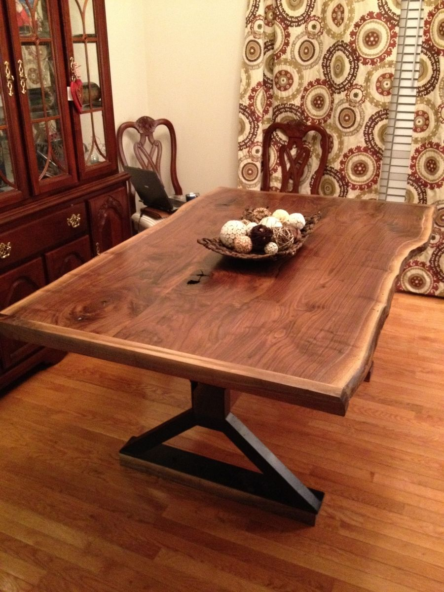 Hand Made Live Edge Dining Room Table By Southern Wood Design
