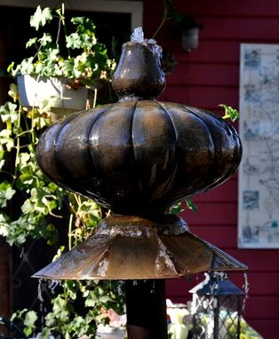 "Custom Made Propane Tank And Italian Brass Jug Water Fountain ""The Whirling Dervish''"