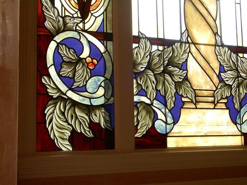 Custom Made Stained Glass Window Treatment To Enhance The Zero Lot Line Non-View!