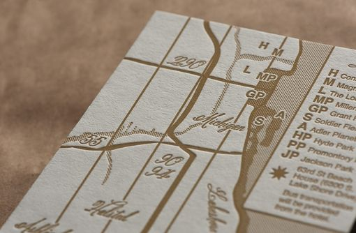 Custom Made Wedding Invitations - Elegant City