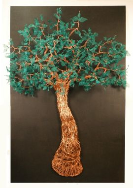 Custom Made Large Wire Tree Sculpture