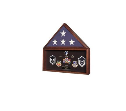 Custom Made Flag Memorabilia Display Case