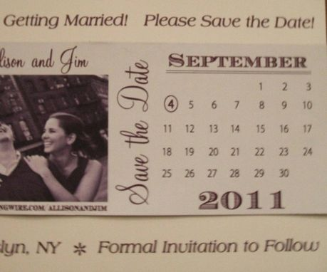 Custom Made Custom 100 Save The Dates With Image And Calendar Marked With Your Big Day Deposit Only