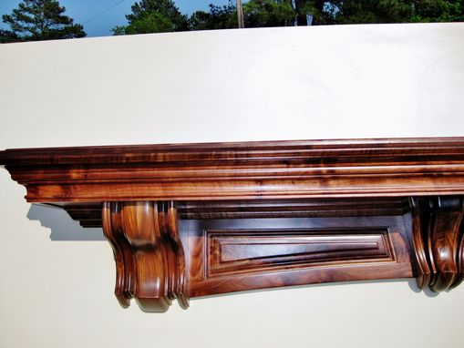 Custom Made Gunstock Walnut Mantle