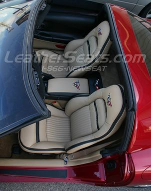 Handmade Custom Chevrolet C5 Corvette Italian Leather Interior By Leather Seats Custommade Com