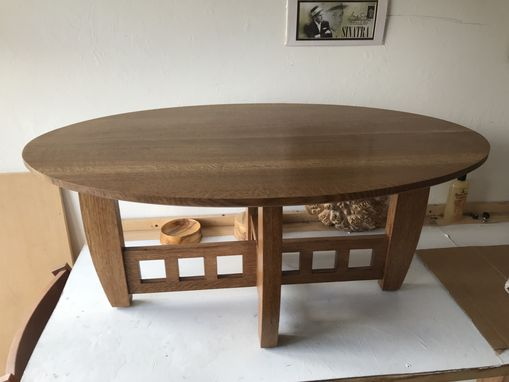Custom Made Arts And Crafts Style Coffee Table Inspired By Limbert