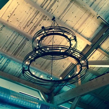 Custom Made Large Steel Industrial Chandelier