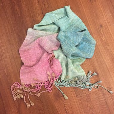 Custom Made Handwoven Handdyed Scarf