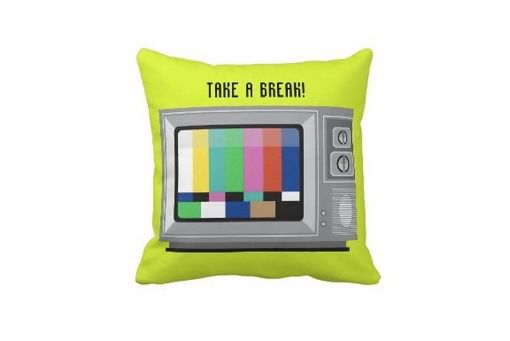 Custom Made Old Tv Pillow - Retro Tv Multicolor Pillow - Television Pillow- Fun Pillow
