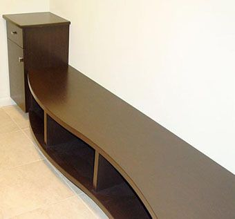 Custom Made Curved Mud Room Bench