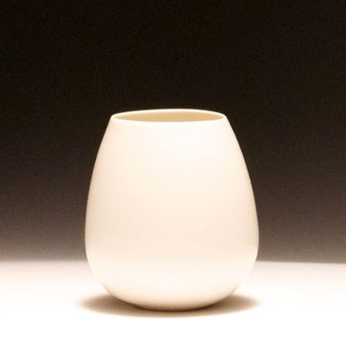 Custom Made Stemless Translucent Porcelain Wine Glasses