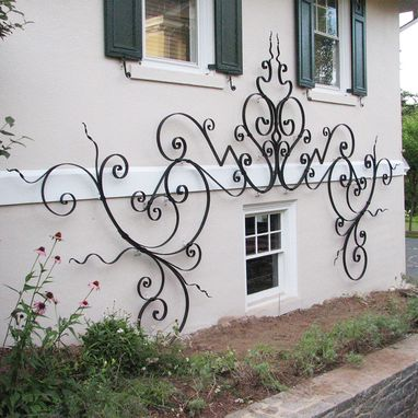 Custom Made Hand Forged Trellis