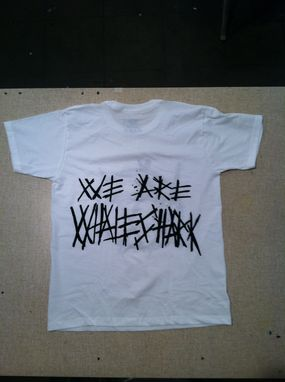 Custom Made We Are Whaleshark Silkscreen T-Shirts