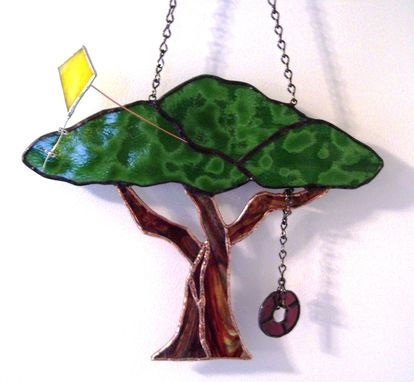 Custom Made Summer Fun Tree- Stained Glass Sun Catcher