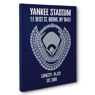 Custom Made Yankee Stadium Canvas Wall Art – Multiple Colors