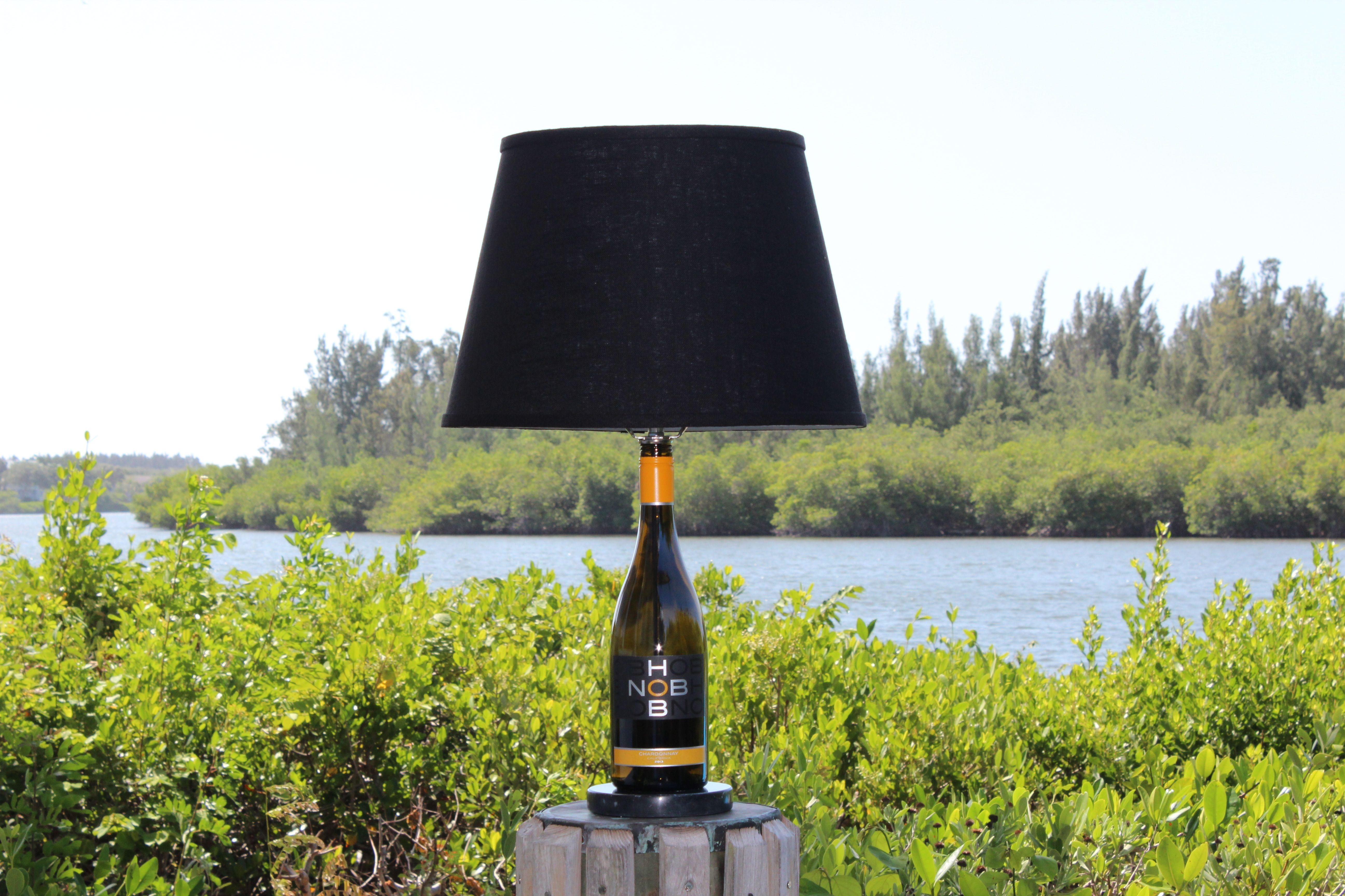 Groovy Wine Bottle Table Lamp Customer Bottle Home Interior And Landscaping Mentranervesignezvosmurscom