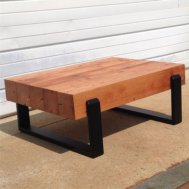 Buy A Handmade Reclaimed Floating Beam Coffee Table, Made