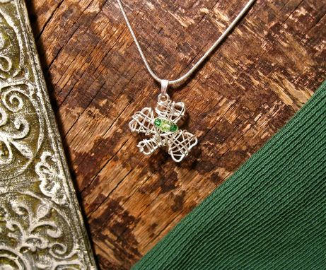 Custom Made Sterling Silver Wire Wrapped Clover Necklace