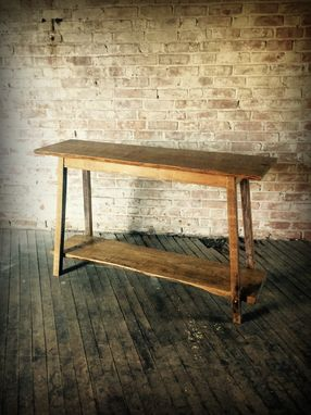 Custom Made Reclaimed  Oak Console Table
