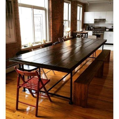 Custom Made Xl Industrial Dining And Conference Table