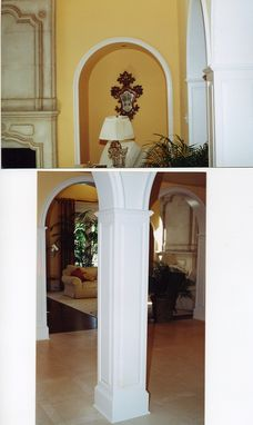 Custom Made Arches, Raised Panel Columns And Circular Molding - Interior