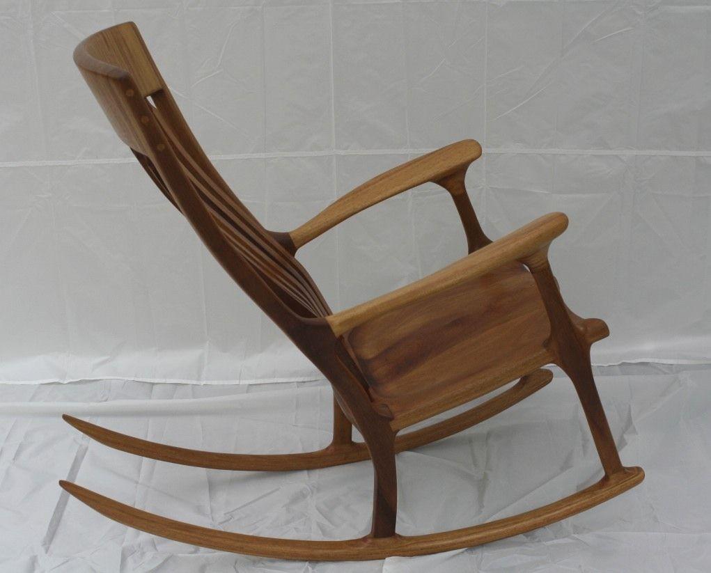 Handmade Iroko (African Teak) Rocking Chair by Wood In Motion ...