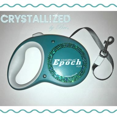 Custom Made Crystallized Retractable Dog Leash Bling Made With Swarovski Crystals - 16'