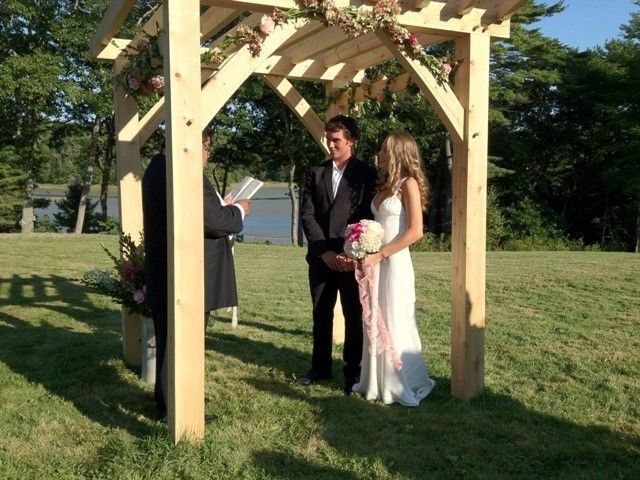 Custom Timber Frame Wedding Arbor By Black Dog Timberworks