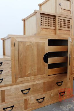 Custom Made A Combination Of Step Tansu And Isho Tansu.