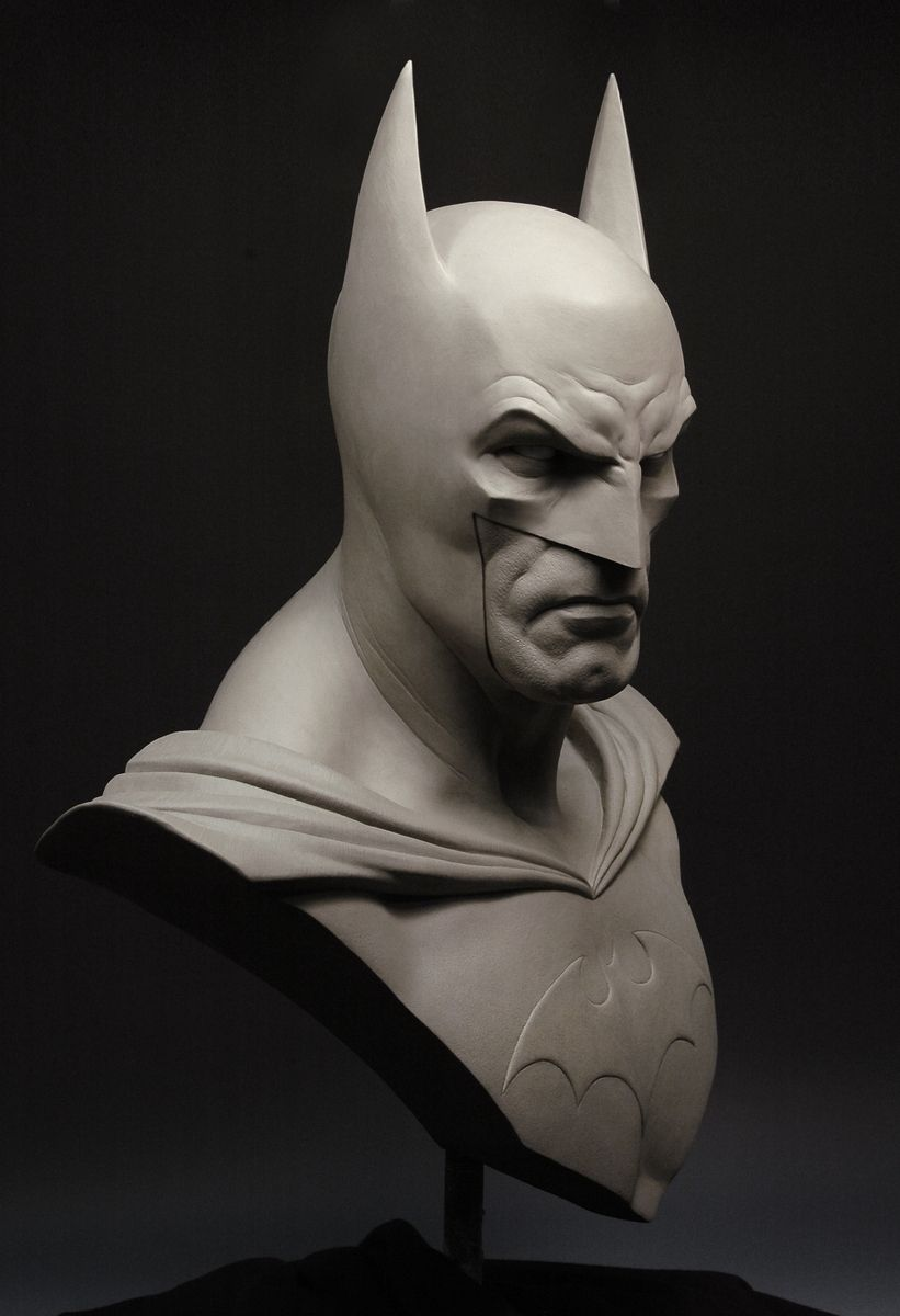 Hand Crafted Life Size Batman Bust By Andy Bergholtz